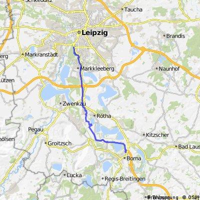 Helios Klinik Borna by bike