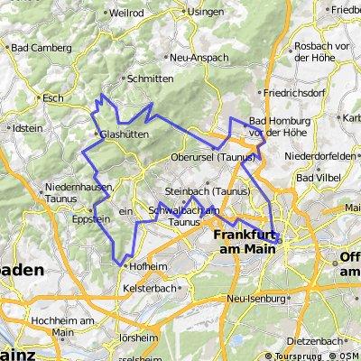 Trainingsstrecke ŠKODA Velotour 110 km