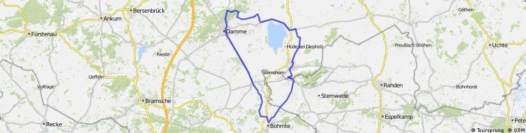 Renn-Lembruch-Lemförde-Haldem-Bohmte-Hunteburg-Damme-Dümmerlohausen-Lembruch-61km