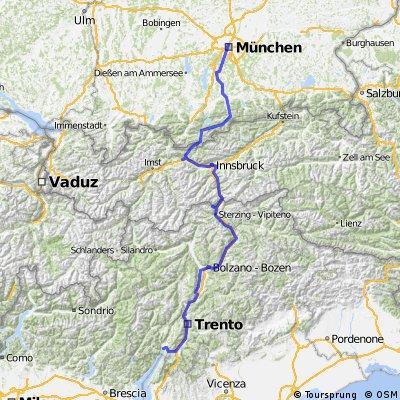 München -> Torbole (Gardasee)