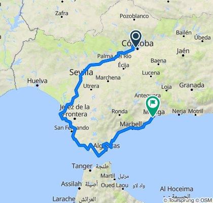 Andalusien-Tour: Cordoba-Sevilla-Malaga