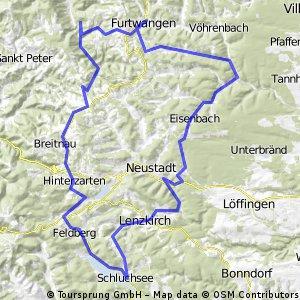Hochschwarzald '13: SchluchseeEisenbLinachWildgutachThurnerHinterzAll