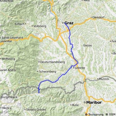 Graz - Piran Teil 1 (Graz - Radlje ob Dravi)