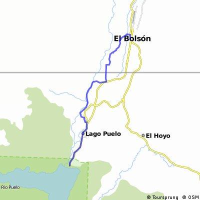 Recorido MTB El Bolsón Lago Puelo