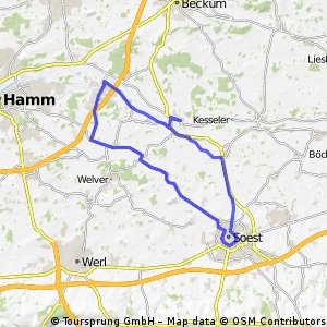 LIppborg - Soest (Rundkurs) - Uentrop
