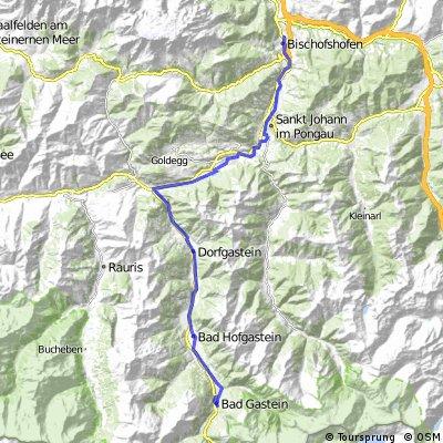 Ciclovia Alpe-Adria 2. cycle section: Bischofshofen-Bad Gastein