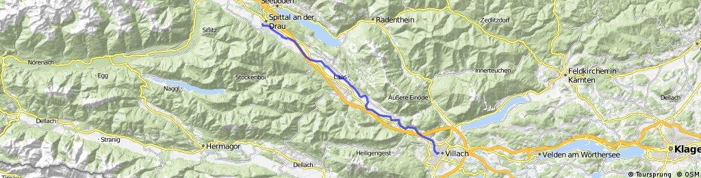 Ciclovia Alpe-Adria 4. cycle section: Spittal an d. Drau -Villach