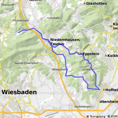 Rundtour Engenhahn (Wildsachsen, Langenhain, Hofheim, Niederjosbach)