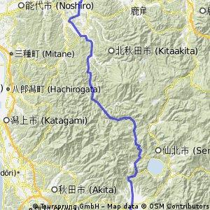 秋田内陸100km