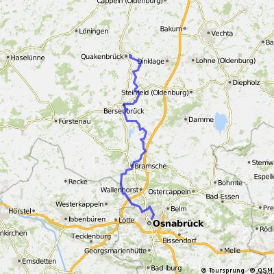 Hase-Ems-Route Tag 1