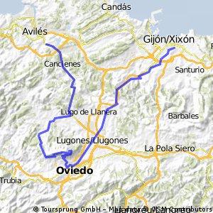 Gijón-Naranco-Corvera