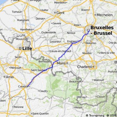 Tour 2014 Bruxelles - Cambrai