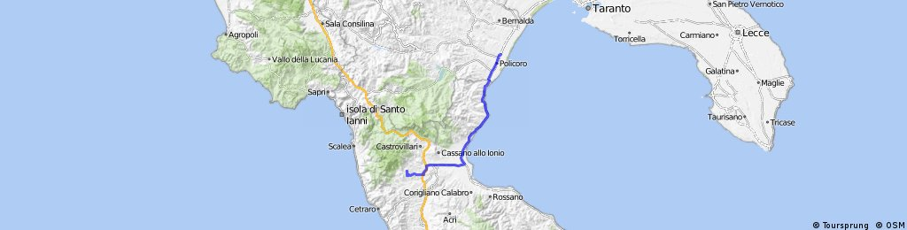 Day 2 Scanzano Jonico to Altomonte
