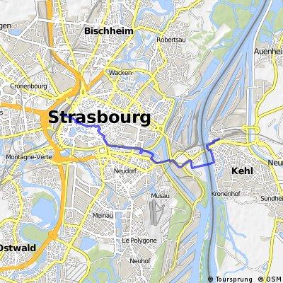 Strasbourg Gare Centrale -- Kehl Bhf