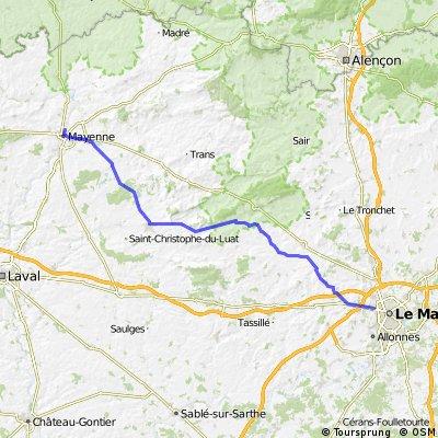 London-Nevers Day5: Mayenne-Le Mans