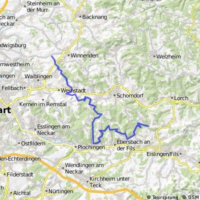 Schwaikheim-Beutelsbach-Reichenbach-Zachersmühle