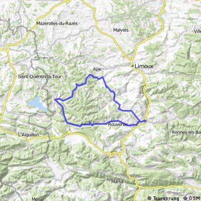 2013 Ride Day 20 - Couiza Circle through Esperaza, Chalabre, Castelreng, and la Serpent