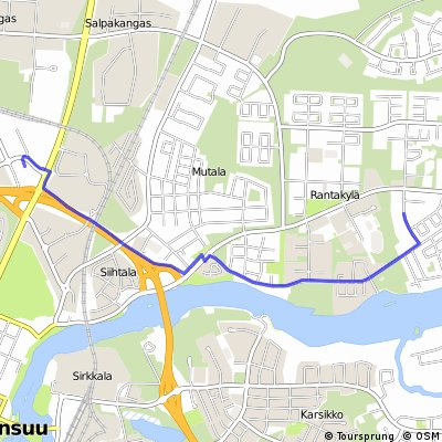 Cycling routes and bike maps in and around Joensuu Bikemap Your