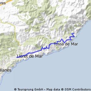 Tossa de Mar - Lloret de Mar - Tossa de Mar