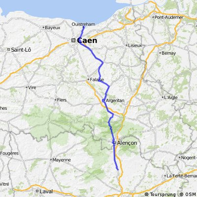 Day 02: London to Morocco -Caen to Le Mans