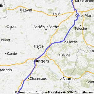 Day 03: London to Morocco - Le Mans to Cholet