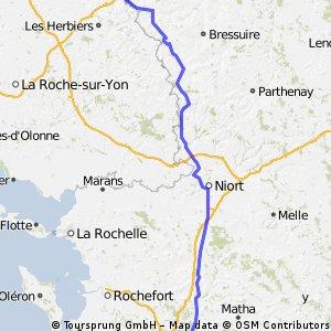 Day 04: London to Morocco - Cholet to Saintes