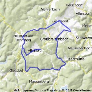 Rund um Altenfeld über Gillersdorf