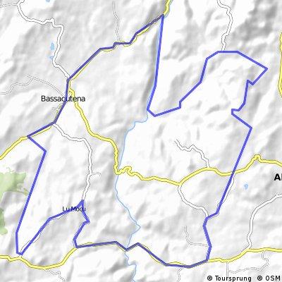 MTB Bassacutena, Arzachena, Monti Canu, Liscia Fluss