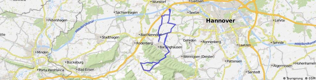 Nienstedter Pass-Mesmerode-Einbeckhausen-Großmunzel