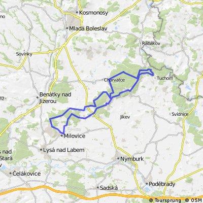 Milovice - Seletice a zpět (64km)