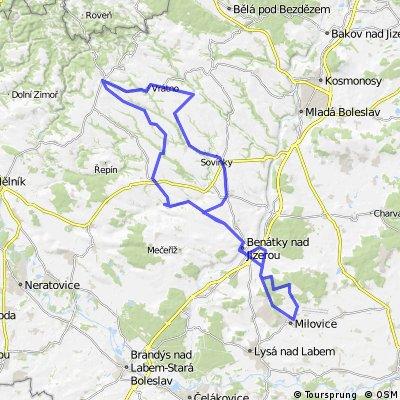Milovice - Mšeno a zpět (85km)
