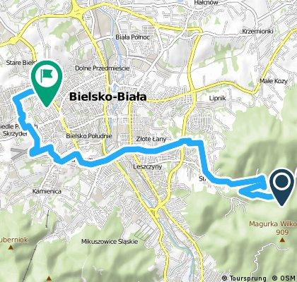Trasa rowerowa przegibek - stare bielsko