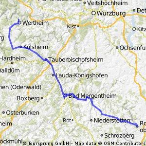 Große Tauber-Radtour