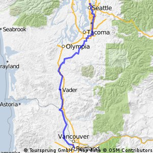 STP Seattle to Portland Bicycle Clic | Bikemap - Your bike routes on