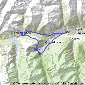 Königsleiten kurze bergspritztour