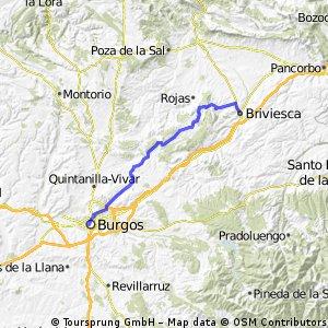 Morci-cuentros día 1. Burgos  - Briviesca.