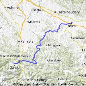 2013 Ride Day 28 - Bram to St-Pierre-de-Rivière (Foix)