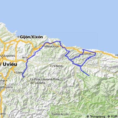 13ª Eta San Martín del Rey Aurelio ( Strondio) Lagos de Covadonga 165 km
