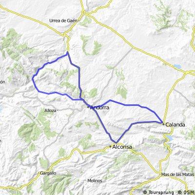 Calanda Alcorisa,Andorra,Ariño,Andorra,Calanda