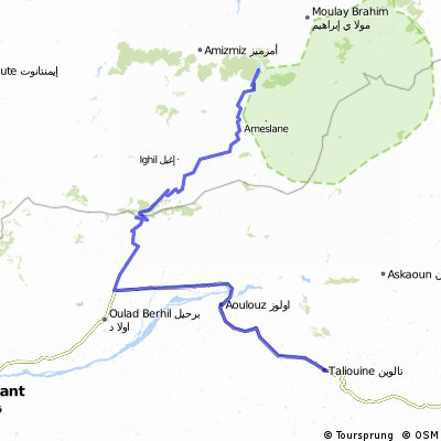 Taliouine to Ouirgane road