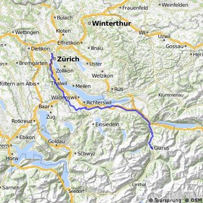 glarus-zürich via sihltal