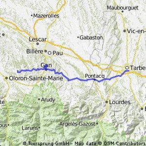 2013 Ride Day 31 - Tarbes to Estialescq (Oloron-Stainte-Marie)