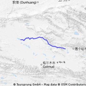 【青海省大柴旦から南西へのルートG315】360km