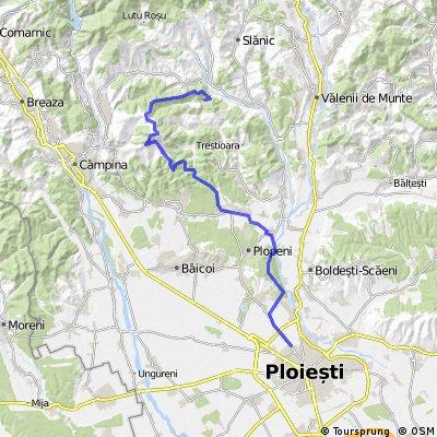 Ploiesti - Paduce Cocosesti - Plopeni Sat - Cocorastii Mislii - Bustenari - Bosilcesti - Crucea de poatra de la Cosmina de sus