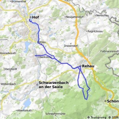 ADFC-Hof: Tour zum Alten Pfarrhaus Göringsreuth bei Schönwald