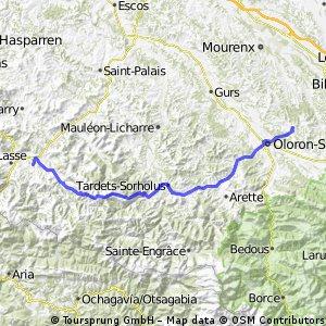 2013 Ride Day 32 - Estialescq (Oloron-St-Marie) to St-Jean-le-Vieux (St-Jean-Pied-de-Port)
