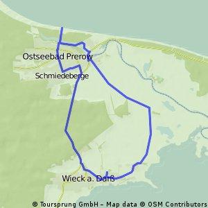 Wieck-Prerower Seebrücke und zurück
