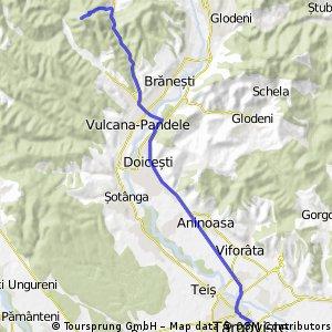 Targovistea pedaleaza. Schitul Bunea - Vulcana-Bai