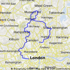 Route IBIKELONDON - Get To Know London - Check Out The View!