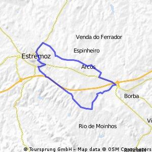 Estremoz - Frandina - Arcos - Nora - Glória - Estremoz